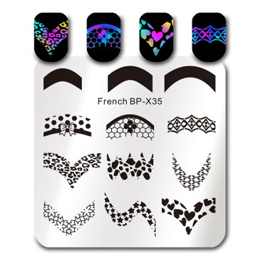 Born Pretty BP-X35 nail stamping plate. Get yours without the wait, already in the USA at www.lanternandwren.com.