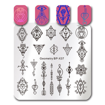 Born Pretty BP-X37 nail stamping plate. Get yours without the wait, already in the USA at www.lanternandwren.com.