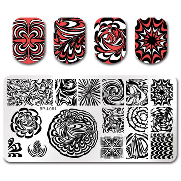 Born Pretty BP-L061 nail stamping plate! Free USA shipping available.