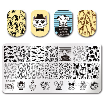 Born Pretty BP-L063 nail stamping plate! Free USA shipping available.