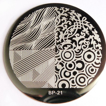 Born Pretty BP21 nail stamping plate. Get yours without the wait, already in the USA at www.lanternandwren.com.