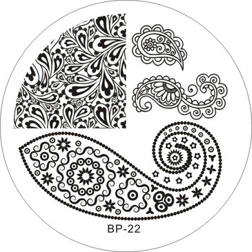 Born Pretty BP22 nail stamping plate. Get yours without the wait, already in the USA at www.lanternandwren.com.