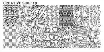 Creative Shop Stamping Plate 19. Available at www.lanternandwren.com.