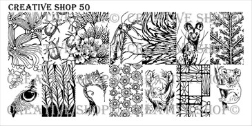 Creative Shop Stamping Plate 50.  Available at www.lanternandwren.com.