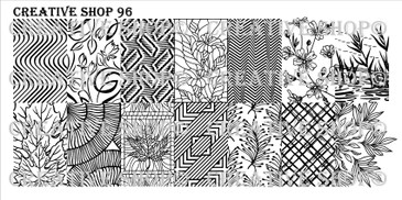Creative Shop Stamping Plate 96.  Available at www.lanternandwren.com.