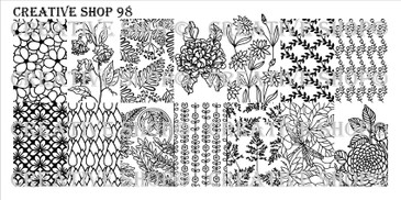 Creative Shop Stamping Plate 98.  Available at www.lanternandwren.com.