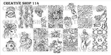 Creative Shop Stamping Plate 114.  Available at www.lanternandwren.com.