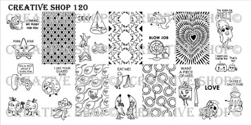 Creative Shop Stamping Plate 120.  Available at www.lanternandwren.com.