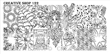 Creative Shop Stamping Plate 122.  Available at www.lanternandwren.com.