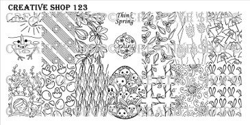 Creative Shop Stamping Plate 123.  Available at www.lanternandwren.com.
