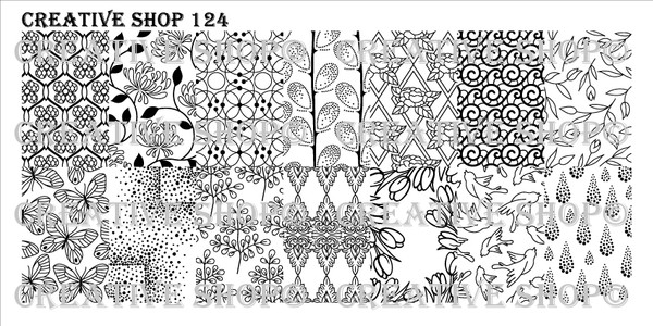 Creative Shop Stamping Plate 124.  Available at www.lanternandwren.com.
