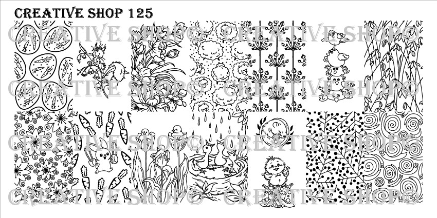 Creative Shop Stamping Plate 125.  Available at www.lanternandwren.com.