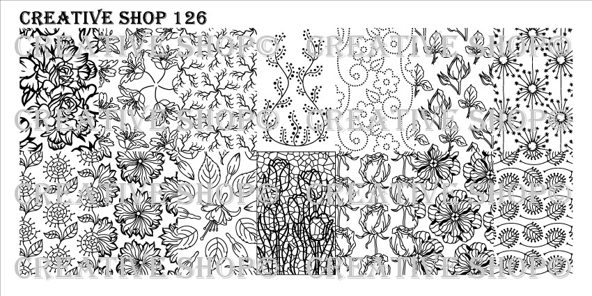 Creative Shop Stamping Plate 126.  Available at www.lanternandwren.com.