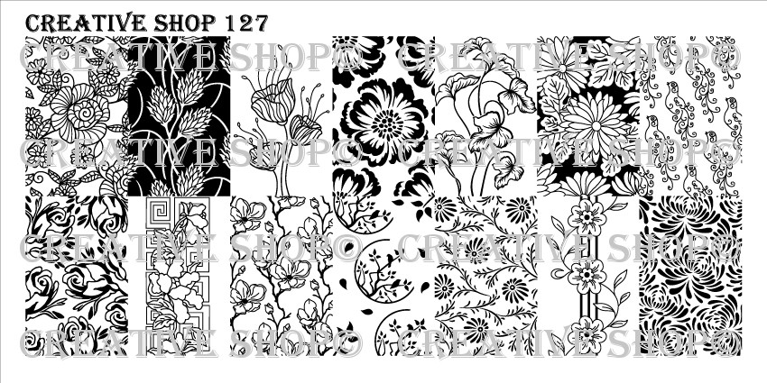 Creative Shop Stamping Plate 127.  Available at www.lanternandwren.com.
