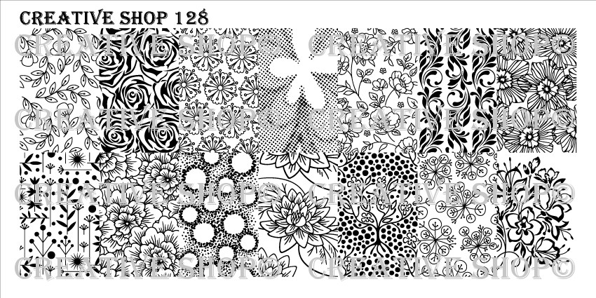 Creative Shop Stamping Plate 128.  Available at www.lanternandwren.com.
