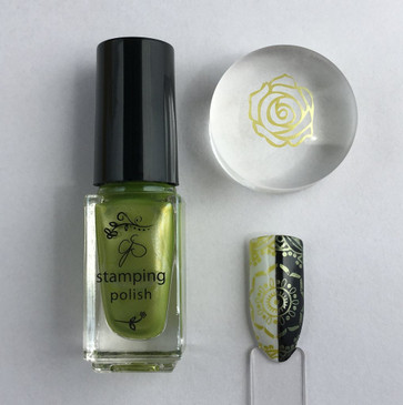 Clear Jelly Stamper stamping polish #44, available at www.lanternandwren.com.
