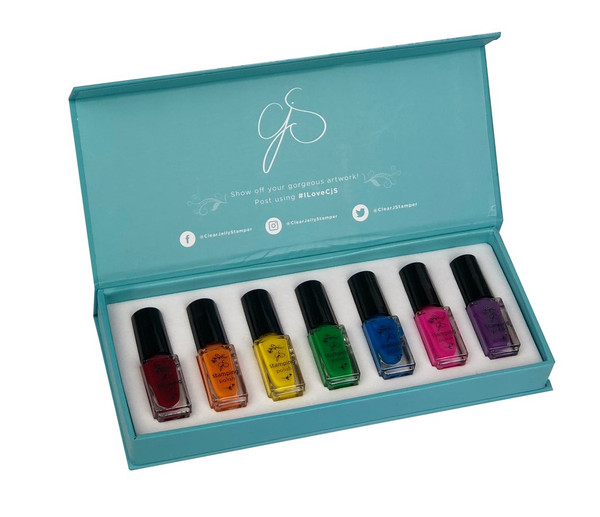 Clear Jelly Stamper rainbow stamping kit, available at www.lanternandwren.com.