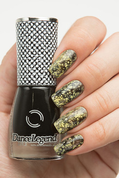 Dance Legend Spot It nail art top coat in black. Available in the USA at www.lanternandwren.com.