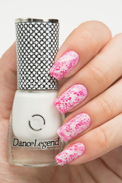 Dance Legend Spot It nail art top coat in white. Available in the USA at www.lanternandwren.com.