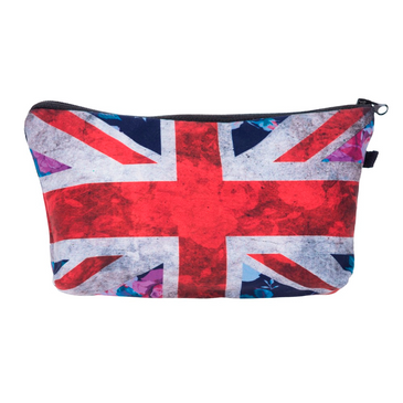 British flag cosmetic bag.  Available at Lantern & Wren. www.lanternandwren.com