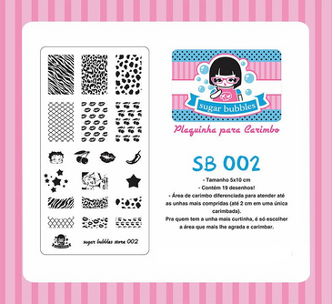 Sugar Bubbles SB002 nail stamping plate. Free USA shipping available. Available at www.lanternandwren.com.