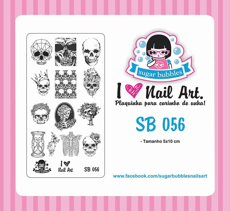 Sugar Bubbles SB056 nail stamping plate, available in the USA at www.lanternandwren.com.