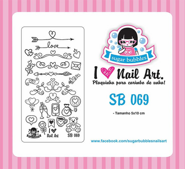 Sugar Bubbles SB069 nail stamping plate. Available at www.lanternandwren.com.