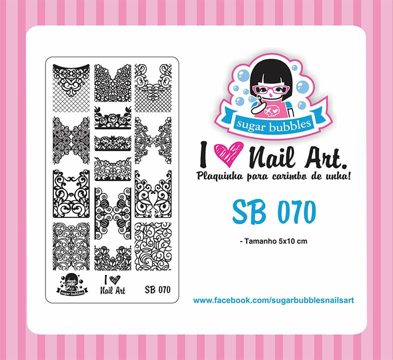 Sugar Bubbles SB070 nail stamping plate. Available at www.lanternandwren.com.