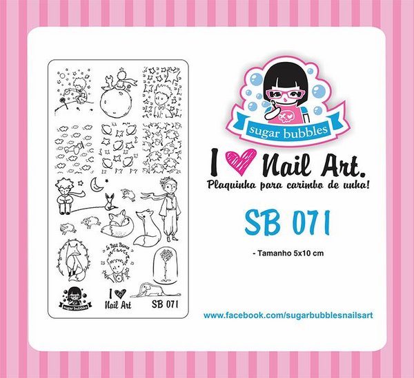 Sugar Bubbles SB071 nail stamping plate. Available at www.lanternandwren.com.