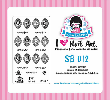 Sugar Bubbles SB012 nail stamping plate. Available at www.lanternandwren.com.