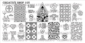 Creative Shop Stamping Plate 105.  Available at www.lanternandwren.com.