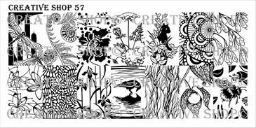 Creative Shop Stamping Plate 57. Available at www.lanternandwren.com.