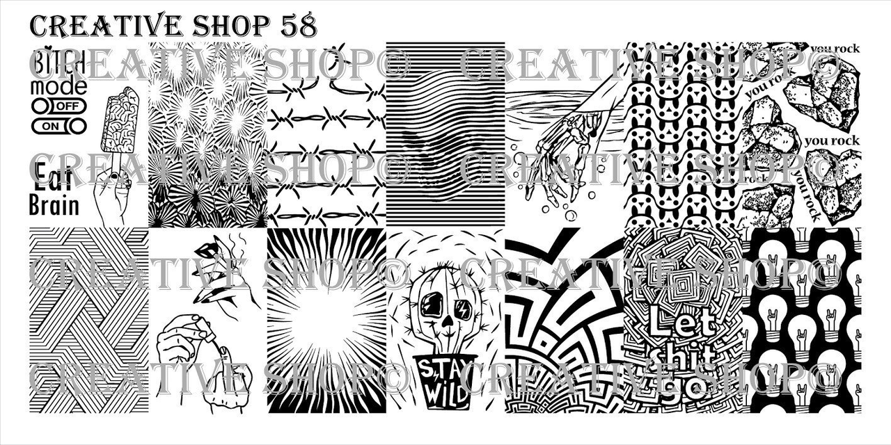 Creative Shop Stamping Plate 58. Available at www.lanternandwren.com.
