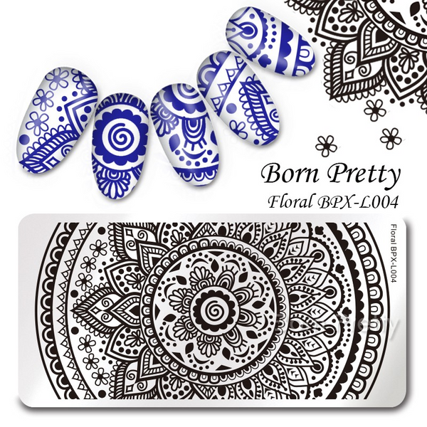 Born Pretty BPX-L004 Nail Stamping Plate, available in the USA at www.lanternandwren.com.