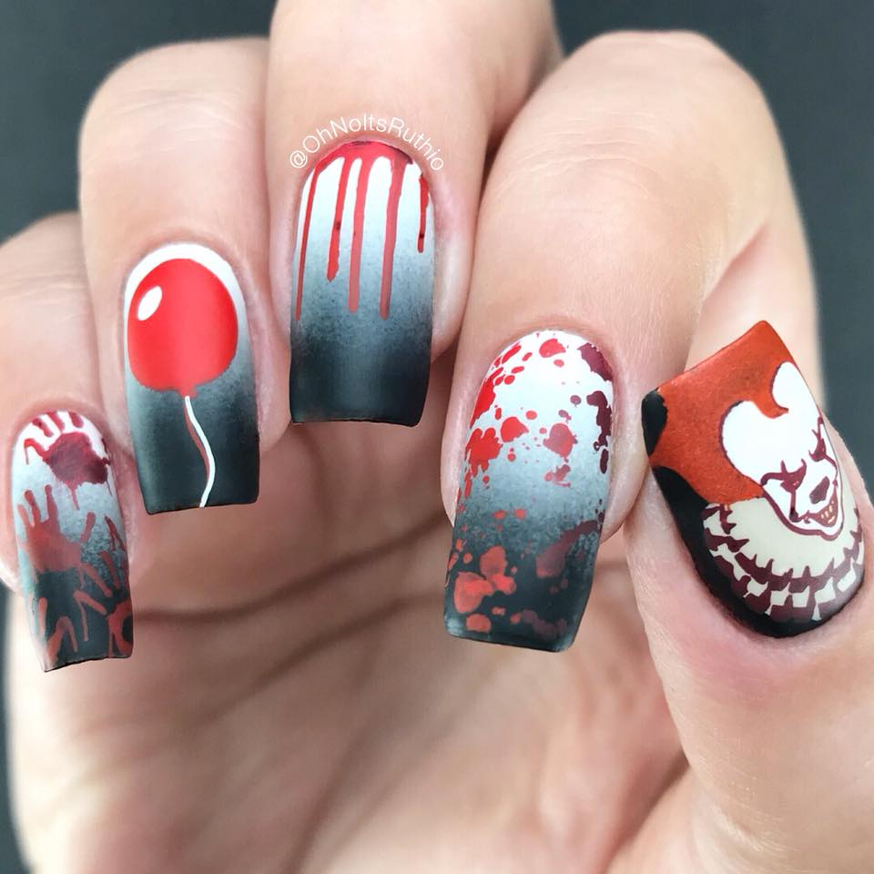 Dixie Plates Halloween 2018 nail stamping plate. Available at www.lanternandwren.com.