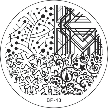 Born Pretty BP-43 nail stamping plate. Get yours without the wait, already in the USA at www.lanternandwren.com.