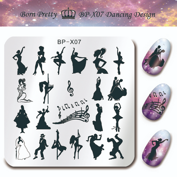 Born Pretty BP-X07 nail stamping plate. Get yours without the wait, already in the USA at www.lanternandwren.com.