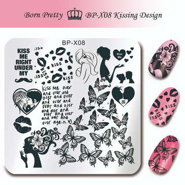 Born Pretty BP-X08 nail stamping plate. Get yours without the wait, already in the USA at www.lanternandwren.com.