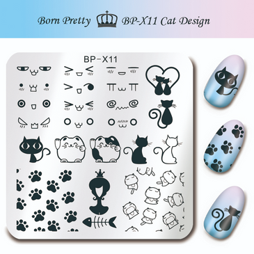 Born Pretty BP-X11 nail stamping plate. Get yours without the wait, already in the USA at www.lanternandwren.com.