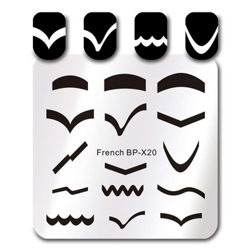 Born Pretty BP-X20 nail stamping plate. Get yours without the wait, already in the USA at www.lanternandwren.com.