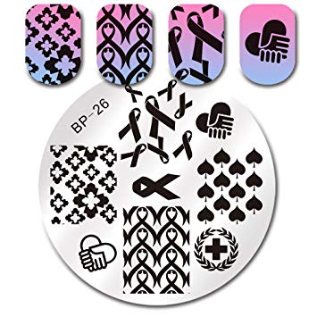Born Pretty BP26 nail stamping plate. Get yours without the wait, already in the USA at www.lanternandwren.com.