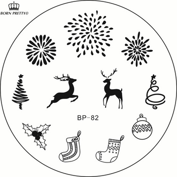 Born Pretty BP82 nail stamping plate. Get yours without the wait, already in the USA at www.lanternandwren.com.