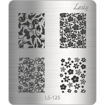 Lesly LS-125 mini nail stamping plate. Available at www.lanternandwren.com.