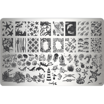 Lesly Marine 1 nail stamping plate. Available at www.lanternandwren.com.