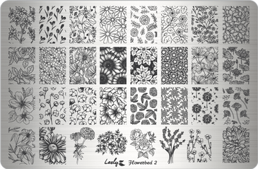 Lesly Flowerbed 2 nail stamping plate. Available at www.lanternandwren.com.