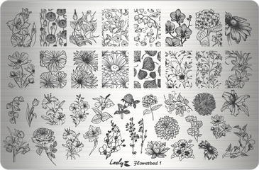 Lesly Flowerbed 1 nail stamping plate. Available at www.lanternandwren.com.