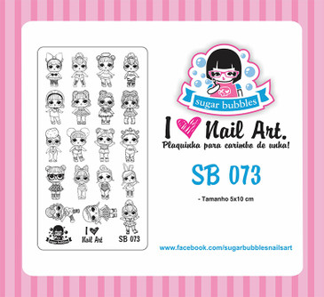 Sugar Bubbles SB073 nail stamping plate. Available at www.lanternandwren.com.