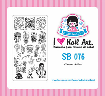 Sugar Bubbles SB076 nail stamping plate. Available at www.lanternandwren.com.