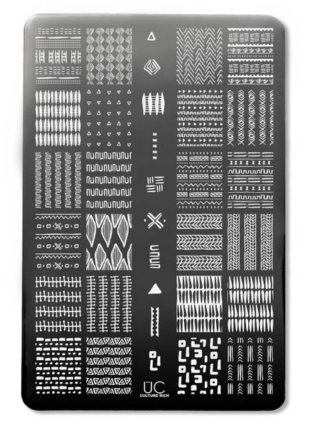 Uber Chic Culture Rich nail stamping plate. Available at www.lanternandwren.com.