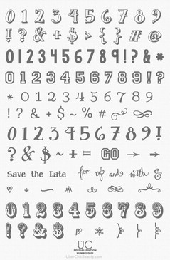 Special Edition: Numbers-01 - UberChic Nail Stamping Plate